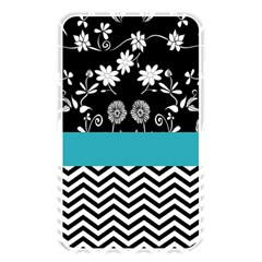 Flowers Turquoise Pattern Floral Memory Card Reader
