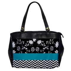 Flowers Turquoise Pattern Floral Office Handbags