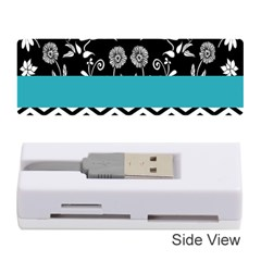 Flowers Turquoise Pattern Floral Memory Card Reader (stick)