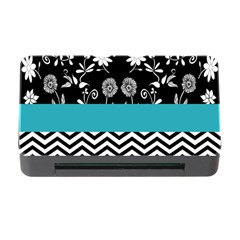 Flowers Turquoise Pattern Floral Memory Card Reader With Cf