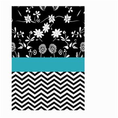 Flowers Turquoise Pattern Floral Large Garden Flag (two Sides)