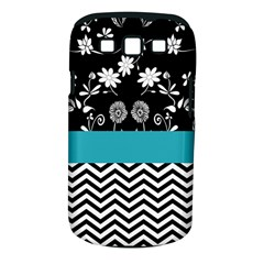 Flowers Turquoise Pattern Floral Samsung Galaxy S III Classic Hardshell Case (PC+Silicone)