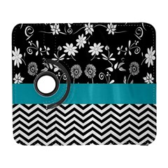 Flowers Turquoise Pattern Floral Galaxy S3 (Flip/Folio)