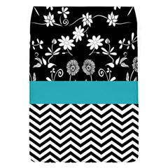 Flowers Turquoise Pattern Floral Flap Covers (S)