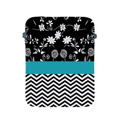 Flowers Turquoise Pattern Floral Apple Ipad 2/3/4 Protective Soft Cases