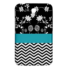 Flowers Turquoise Pattern Floral Samsung Galaxy Tab 3 (7 ) P3200 Hardshell Case