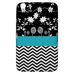 Flowers Turquoise Pattern Floral Samsung Galaxy Tab 3 (8 ) T3100 Hardshell Case