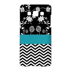 Flowers Turquoise Pattern Floral Samsung Galaxy A5 Hardshell Case