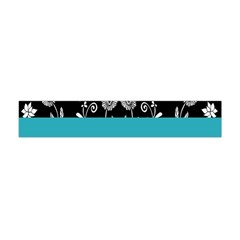 Flowers Turquoise Pattern Floral Flano Scarf (Mini)