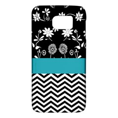 Flowers Turquoise Pattern Floral Galaxy S6