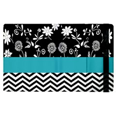 Flowers Turquoise Pattern Floral Apple Ipad Pro 12 9   Flip Case