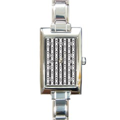 Pattern Background Texture Black Rectangle Italian Charm Watch