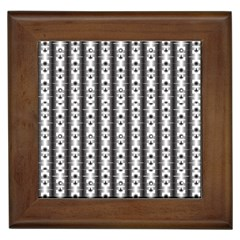 Pattern Background Texture Black Framed Tiles
