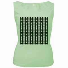 Pattern Background Texture Black Women s Green Tank Top
