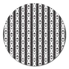 Pattern Background Texture Black Magnet 5  (round)