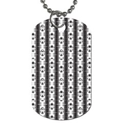 Pattern Background Texture Black Dog Tag (One Side)