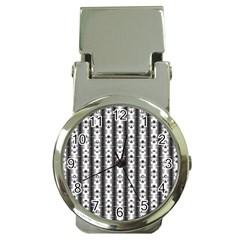 Pattern Background Texture Black Money Clip Watches