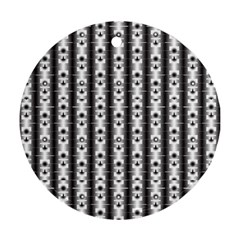 Pattern Background Texture Black Round Ornament (two Sides)