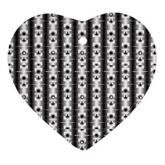 Pattern Background Texture Black Heart Ornament (Two Sides)