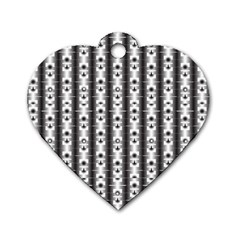 Pattern Background Texture Black Dog Tag Heart (One Side)