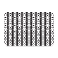 Pattern Background Texture Black Plate Mats