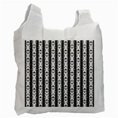Pattern Background Texture Black Recycle Bag (two Side)