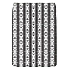 Pattern Background Texture Black Flap Covers (S)