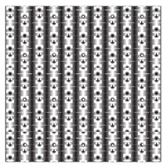 Pattern Background Texture Black Large Satin Scarf (square)