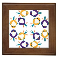 Pattern Circular Birds Framed Tiles