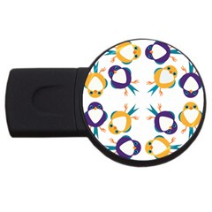 Pattern Circular Birds USB Flash Drive Round (4 GB)