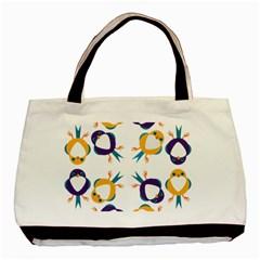 Pattern Circular Birds Basic Tote Bag
