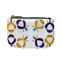 Pattern Circular Birds Mini Coin Purses