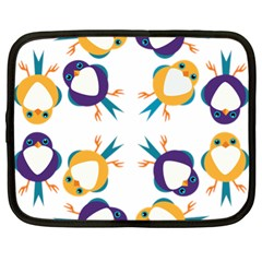 Pattern Circular Birds Netbook Case (xl)