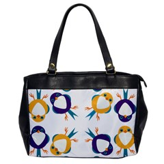 Pattern Circular Birds Office Handbags