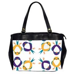 Pattern Circular Birds Office Handbags (2 Sides)