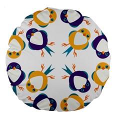 Pattern Circular Birds Large 18  Premium Round Cushions