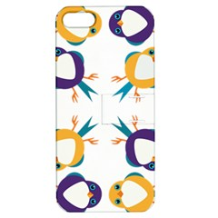 Pattern Circular Birds Apple iPhone 5 Hardshell Case with Stand