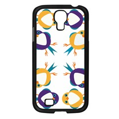 Pattern Circular Birds Samsung Galaxy S4 I9500/ I9505 Case (black)
