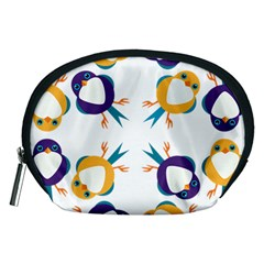 Pattern Circular Birds Accessory Pouches (Medium)