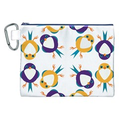 Pattern Circular Birds Canvas Cosmetic Bag (XXL)