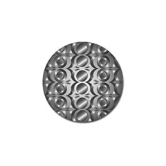 Metal Circle Background Ring Golf Ball Marker (10 pack)