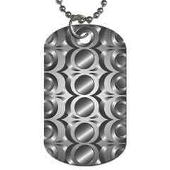 Metal Circle Background Ring Dog Tag (two Sides)