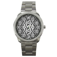 Metal Circle Background Ring Sport Metal Watch