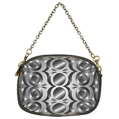 Metal Circle Background Ring Chain Purses (One Side)