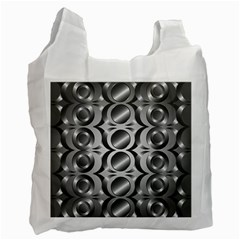 Metal Circle Background Ring Recycle Bag (two Side)