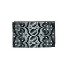 Metal Circle Background Ring Cosmetic Bag (small)