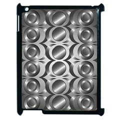 Metal Circle Background Ring Apple Ipad 2 Case (black)