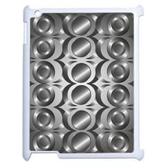 Metal Circle Background Ring Apple Ipad 2 Case (white)