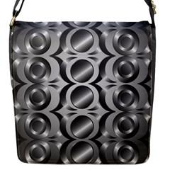 Metal Circle Background Ring Flap Messenger Bag (s)