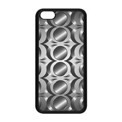 Metal Circle Background Ring Apple iPhone 5C Seamless Case (Black)